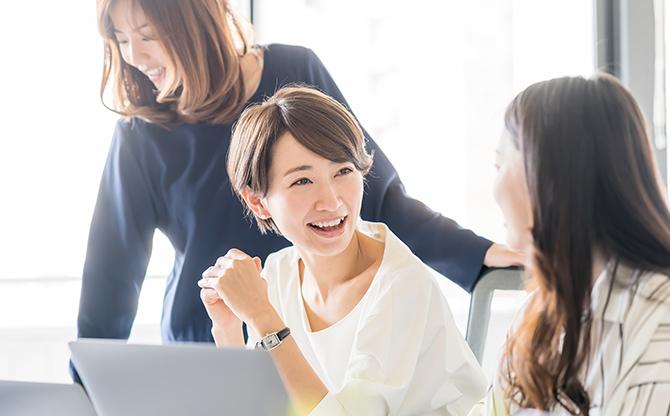 女性メンバー半数以上・女性管理職多数